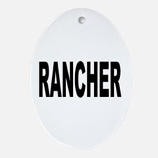 Rancher Ornament (Oval)