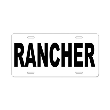 Rancher Aluminum License Plate