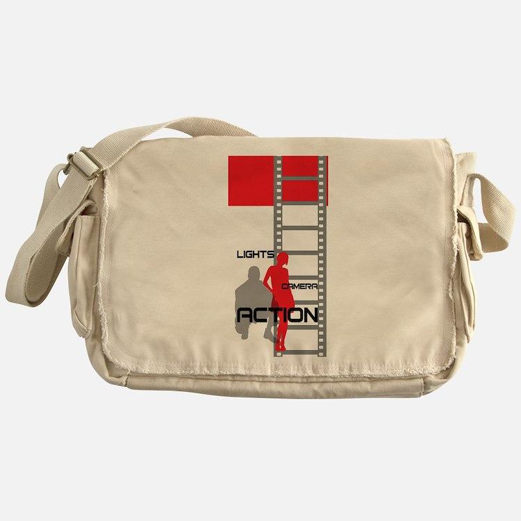 Cute Film student Messenger Bag