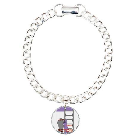 Film Movie Geek Charm Bracelet, One Charm