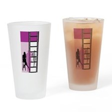 Hollywood Movie Maker Drinking Glass