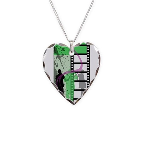 Movie Maker Necklace Heart Charm