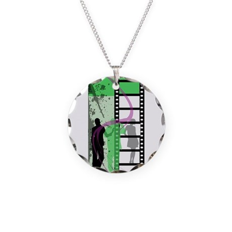 Movie Maker Necklace Circle Charm