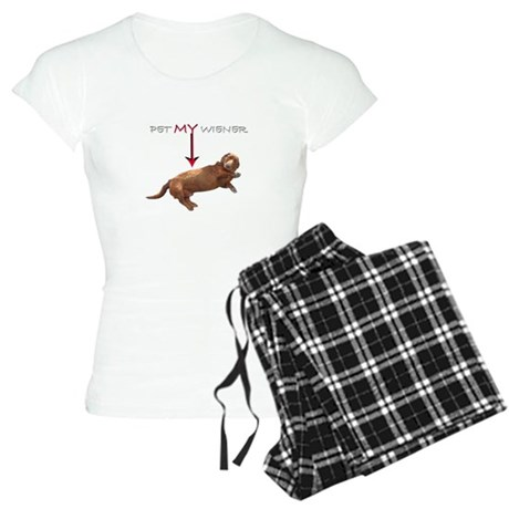 Pet My Wiener Women's Light Pajamas