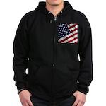 America Zip Hoodie (dark)