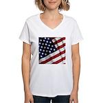 America Women's V-Neck T-Shirt