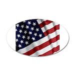 America 22x14 Oval Wall Peel