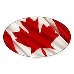 Canada Sticker (Oval 10 pk)