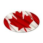 Canada 38.5 x 24.5 Oval Wall Peel