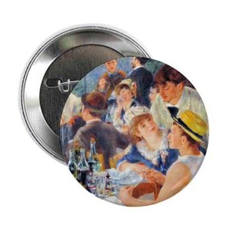 """Renoir - Boating Party 2.25"""" Button"""