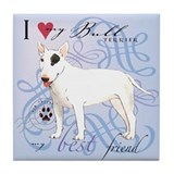 English bull terrier Drink Coasters