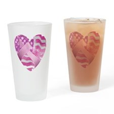 Cute Warriors in pink Drinking Glass
