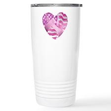 Cute Fight like a girl breast cancer Travel Mug