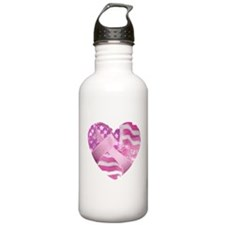 Cute Fight breast cancer research Water Bottle