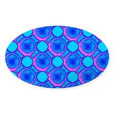 Blue Popcorn Dotty Pasaler Decoration Sticker Oval