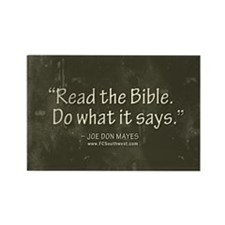 Read the Bible. Rectangle Magnet