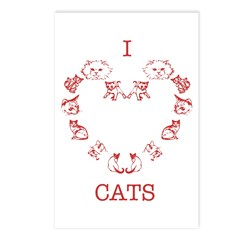 I Love Cats Postcards (Package of 8)