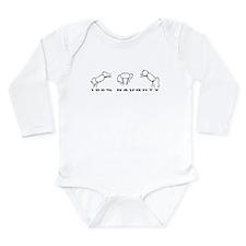 100% Naughty Long Sleeve Infant Bodysuit