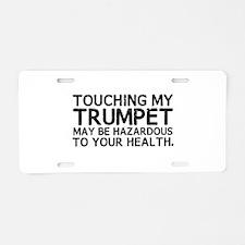 Trumpet Hazard Aluminum License Plate