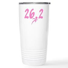 Pink 26.2 Marathon Travel Coffee Mug