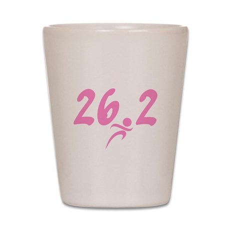 Pink 26.2 Marathon Shot Glass