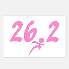Pink 26.2 Marathon Postcards (Package of 8)