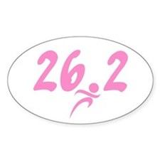 Pink 26.2 Marathon Decal