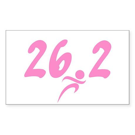 Pink 26.2 Marathon Sticker (Rectangle 10 pk)