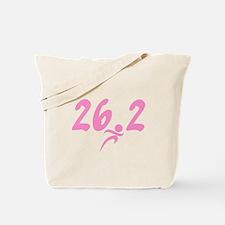 Pink 26.2 Marathon Tote Bag
