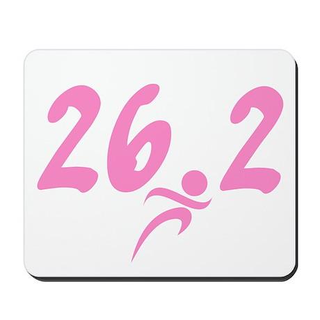 Pink 26.2 Marathon Mousepad