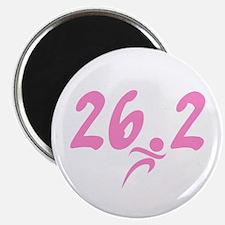 "Pink 26.2 Marathon 2.25"" Magnet (10 pack)"