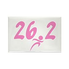 Pink 26.2 Marathon Rectangle Magnet