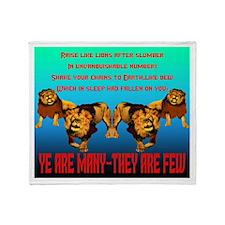 Raise like Lions Throw Blanket