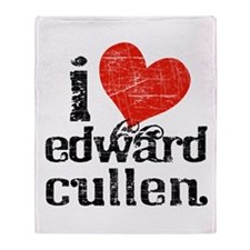 I Heart Edward Cullen Throw Blanket