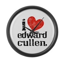 I Heart Edward Cullen Large Wall Clock