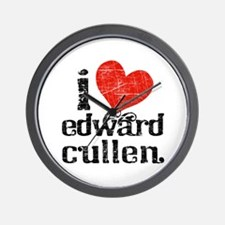 I Heart Edward Cullen Wall Clock