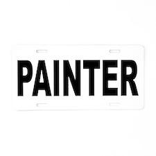 Painter Aluminum License Plate