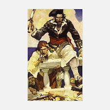 Blackbeard Pirate Sticker (Rectangle)