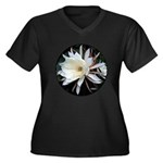 Epiphyte Cactus Flower Women's Plus Size V-Neck Da