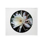 Epiphyte Cactus Flower Throw Blanket