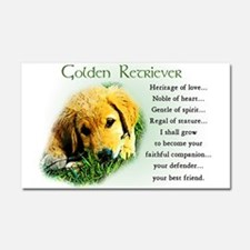 Heritage of Love_Golden Puppy Car Magnet 20 x 12