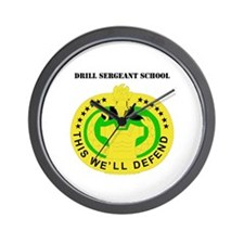 DUI - Drill Sergeant School with Text Wall Clock
