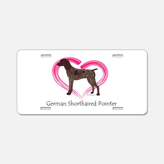 Heart My GSP Aluminum License Plate