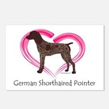 Heart My GSP Postcards (Package of 8)