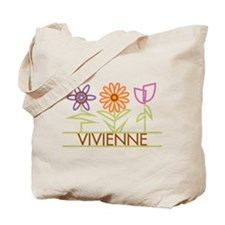 Vivienne with cute flowers Tote Bag