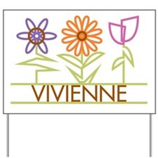 Vivienne with cute flowers Yard Sign