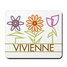 Vivienne with cute flowers Mousepad