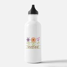 Vivienne with cute flowers Water Bottle