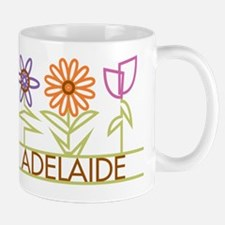 Adelaide with cute flowers Mug