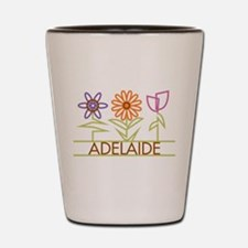 Adelaide with cute flowers Shot Glass